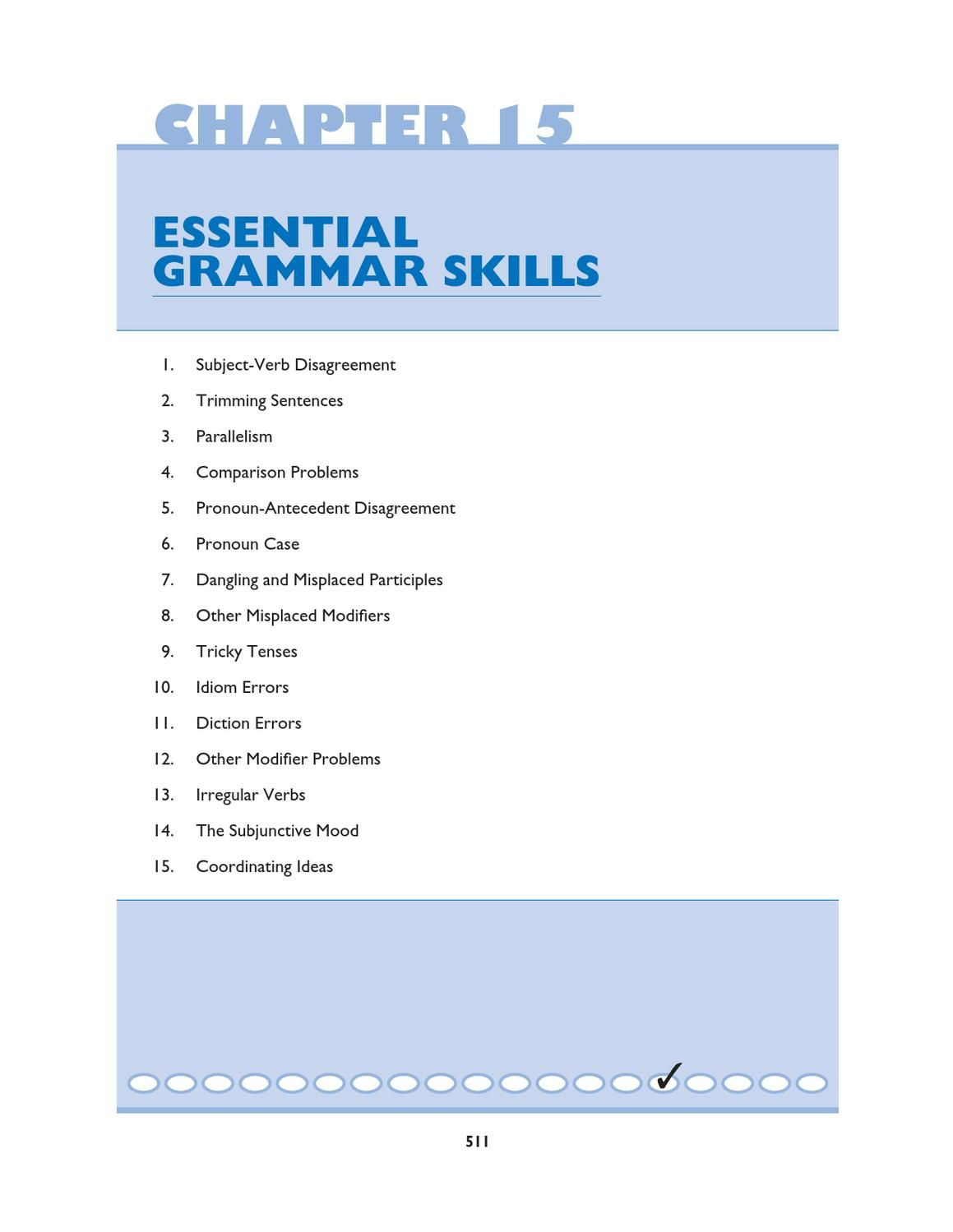 Worksheets Sat Grammar Worksheets mcgraw hills sat essential grammar skills hill chapter 15 from a text