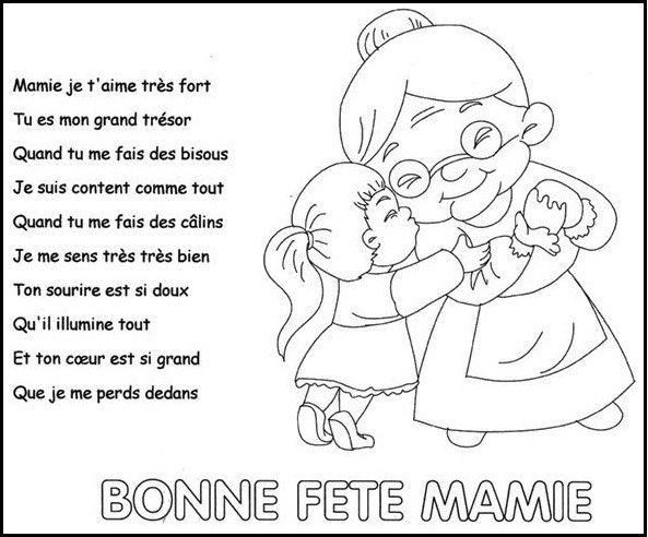 Poème Fête Des Mamies Fete Des Mamies Carte Fête Des