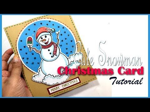 Art and Travel Snowman Cartoon Make Your Own Christmas Cards