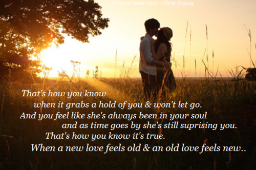 Old love feels new lyrics