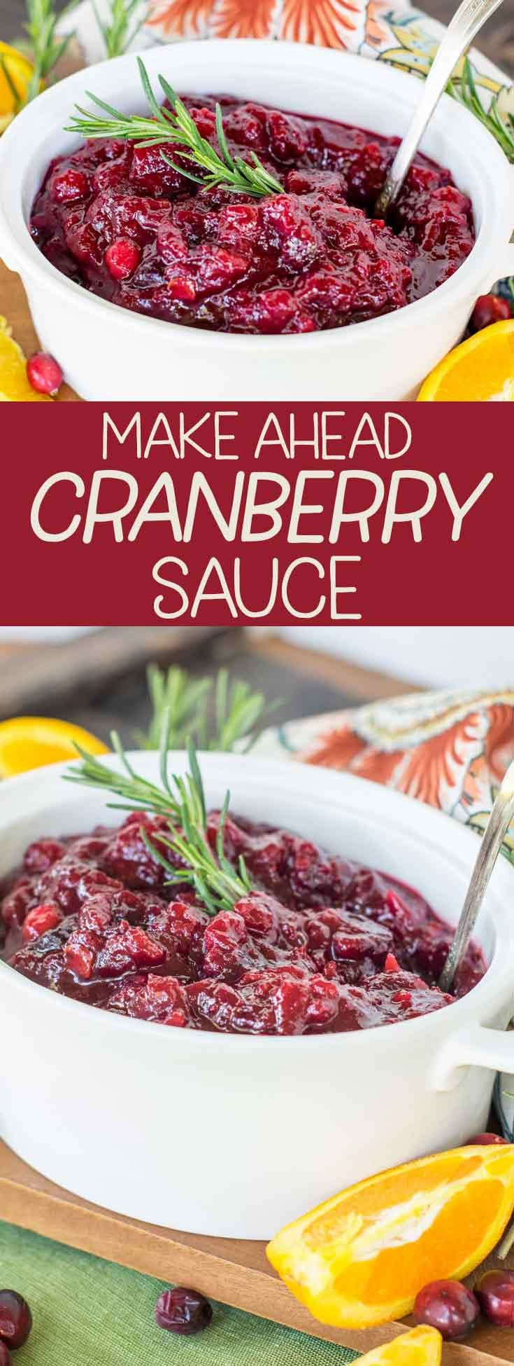 The Best Cranberry Sauce Ever! Quick, Easy and Make Ahead! - Major Hoff Takes A Wife : Family Recipes & Travel Inspiration #cranberrysauce