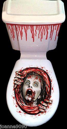 New Halloween Horror Bathroom Toilet Seat Lid And Cistern