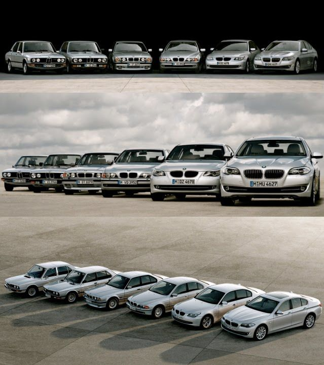 Bmw 5 Series All Six Generations Together Bmw 5 Series Bmw