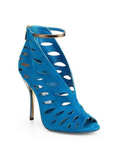 #Jimmy Choo Tamber Suede Cutout Sandals  #Saks.com