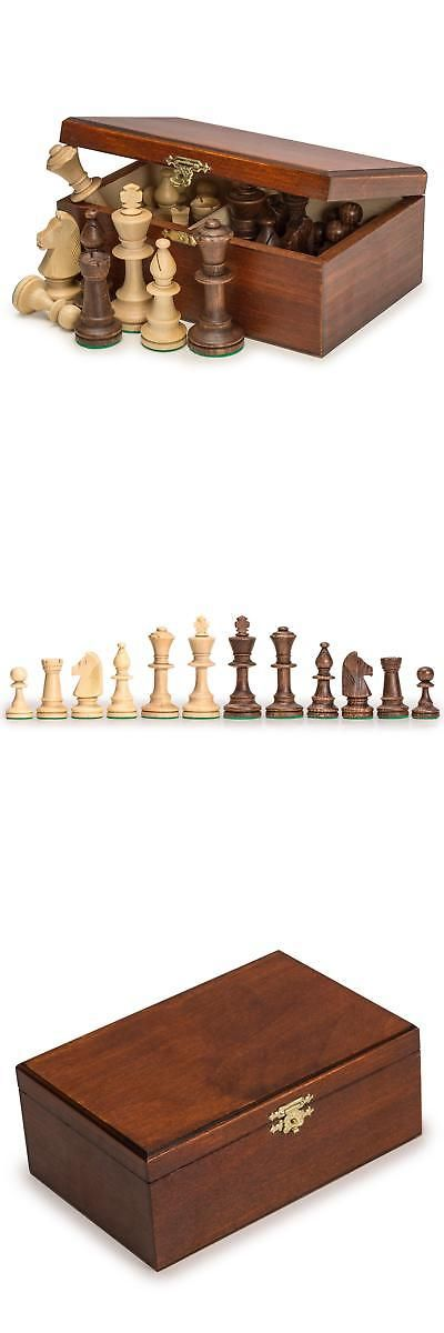 Staunton No 5 Tournament Chess Pieces w// Wood Box by Wegiel