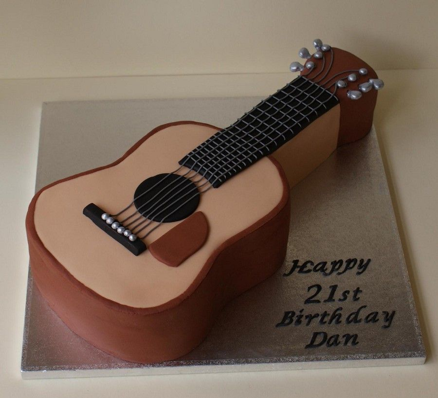 Resultado de imagen de acoustic guitar cake template for Guitar templates for cakes