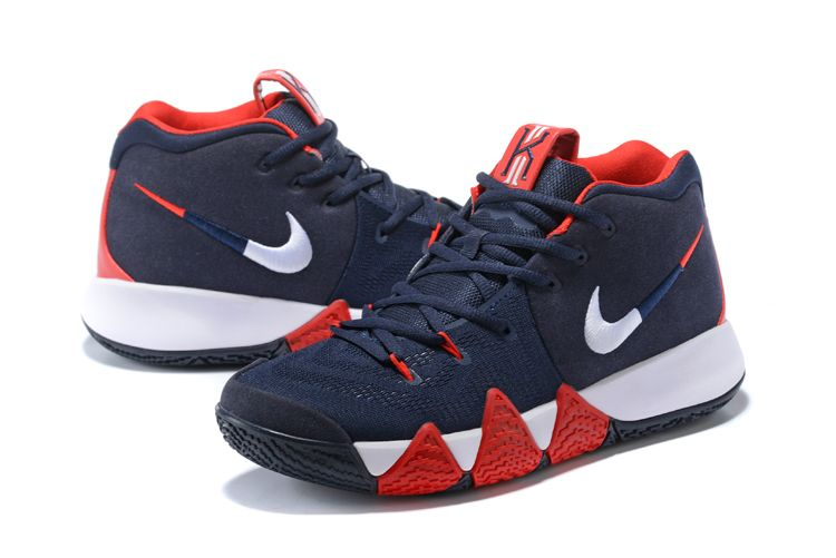 "sports shoes 180e9 30f36 2018 Nike Kyrie 4 ""USA"" Navy Blue White-Red For Sale   Air Jordans 2018"