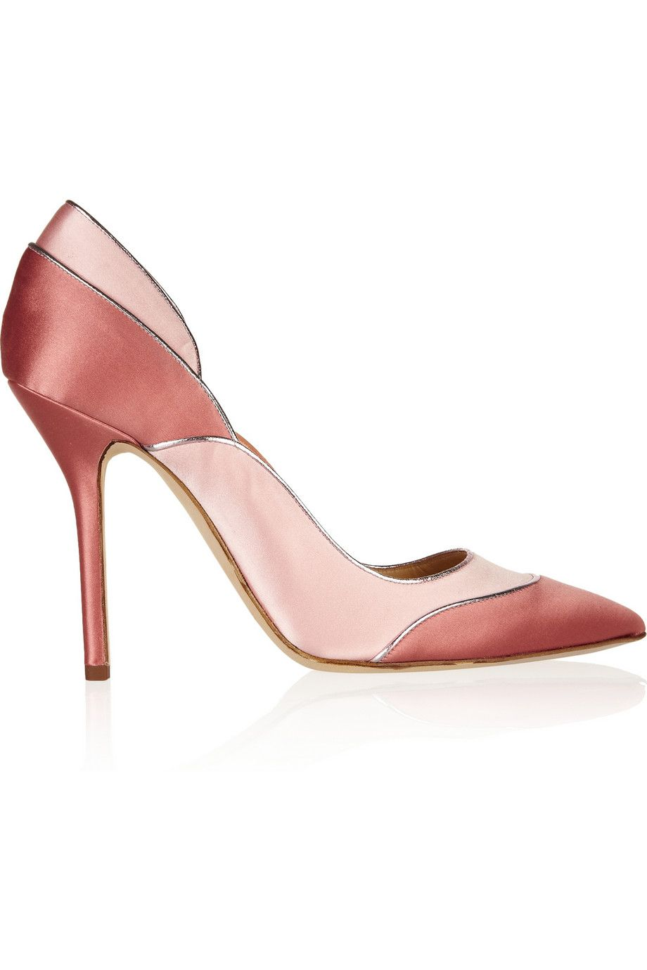 Oscar de la RentaGuiana two-tone satin pumps