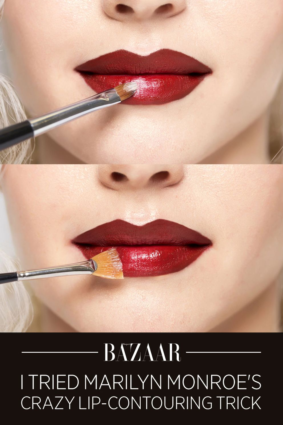 I Tried Marilyn Monroe's Crazy LipContouring Trick Lip