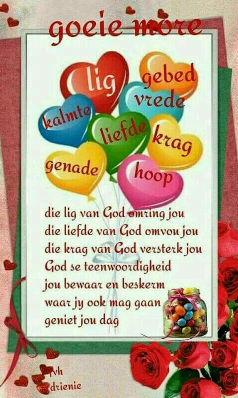 Pin by marian van zyl on special quotes pinterest goeie more night quotes special quotes mornings evening greetings afrikaans m4hsunfo