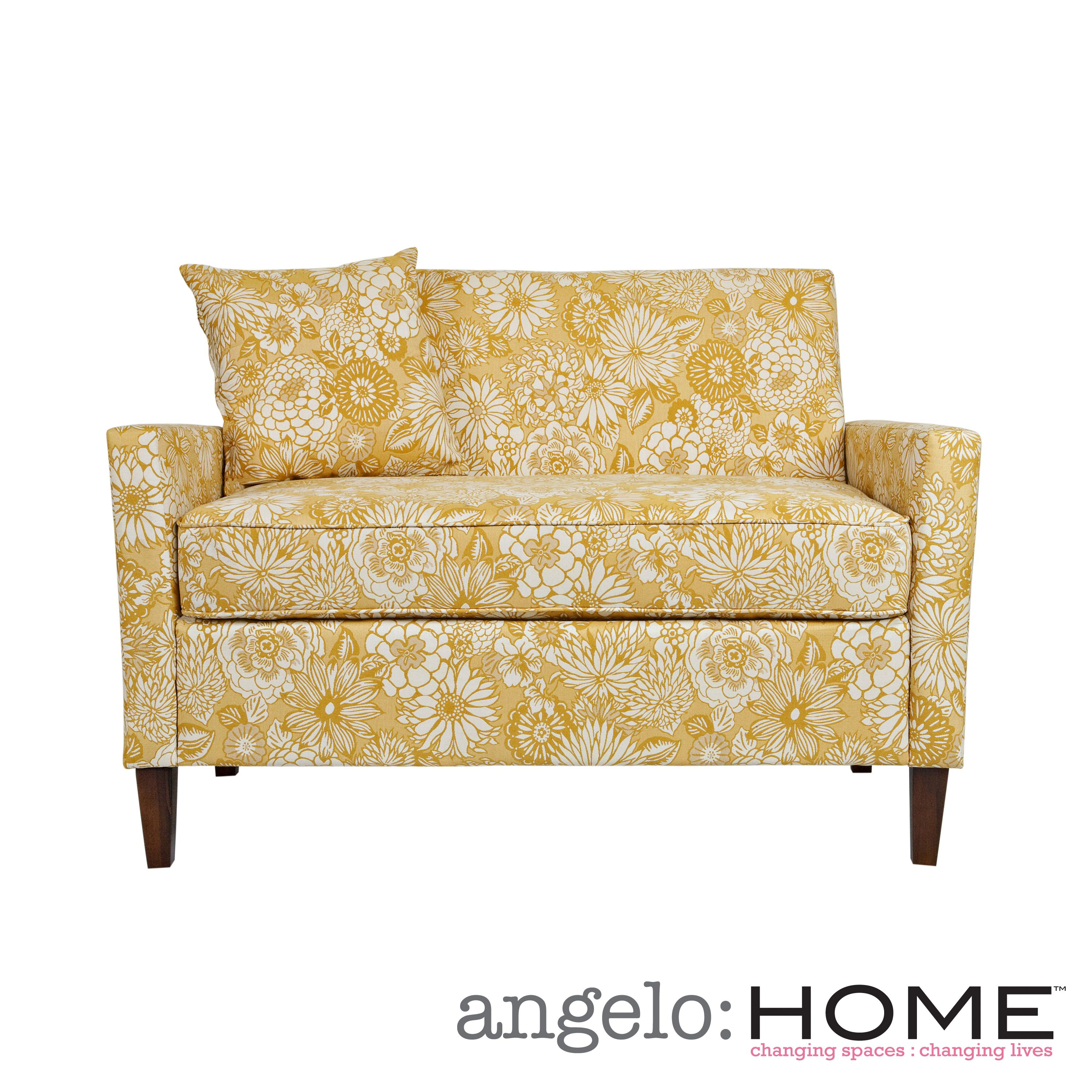 Gentil Yellow Floral Couch