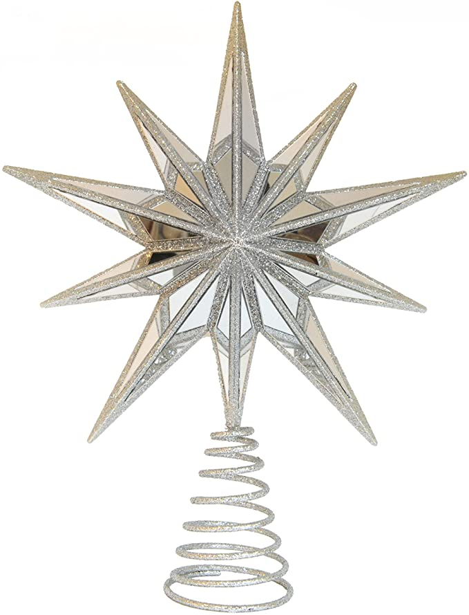 Amazon Com Lumine 12 Christmas Tree Topper Star For Modern Holiday Tree Decoration Holiday Tree Decorations Christmas Tree Star Topper Christmas Tree Toppers