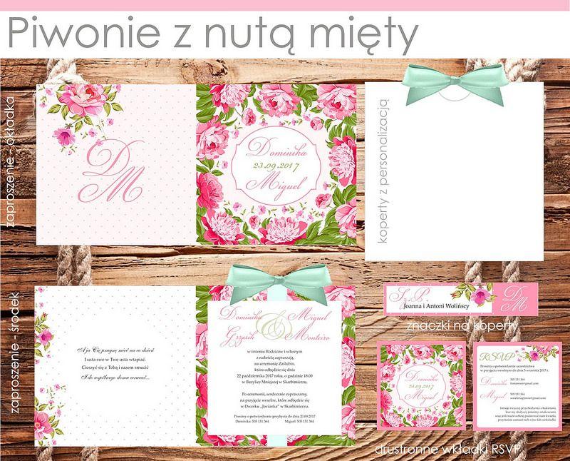 Próbki Kolekcje 2015 Zaproszenia ślub ślubne Hit 5706792774