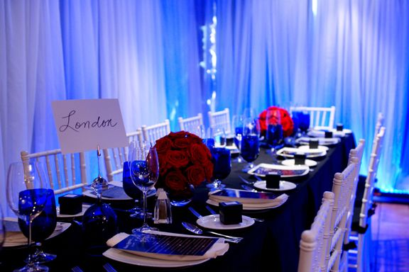 Navy Blue Wedding Table Decorations The Wedding Like This