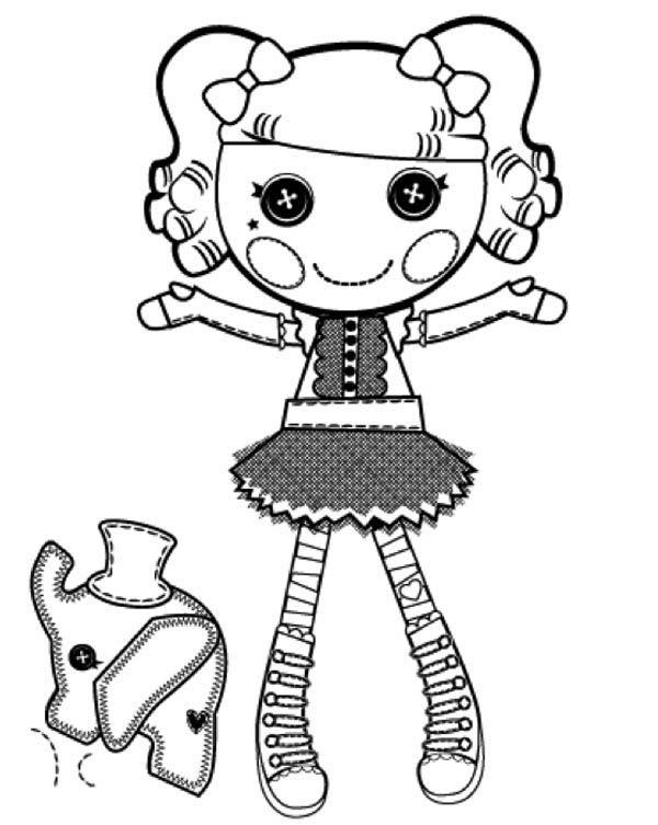 Lalaloopsy, : Peanut Big Top from Lalaloopsy Coloring Page