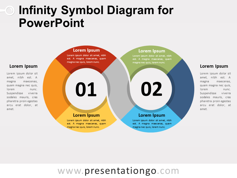 Infinity Symbol Diagram For Powerpoint