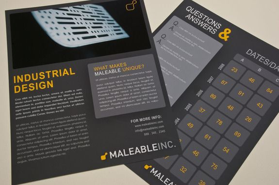 Modern Industrial Design Datasheet Template  Whitepapers  Data