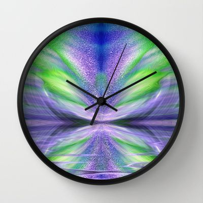 Celebrating life - abstract spiritual art by Giada Rossi Wall Clock by Giada Rossi - $30.00