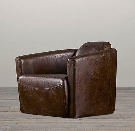 Swivel Recliner Club Chair