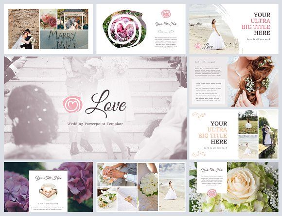 Love  Wedding Powerpoint Template Creativework  Templates