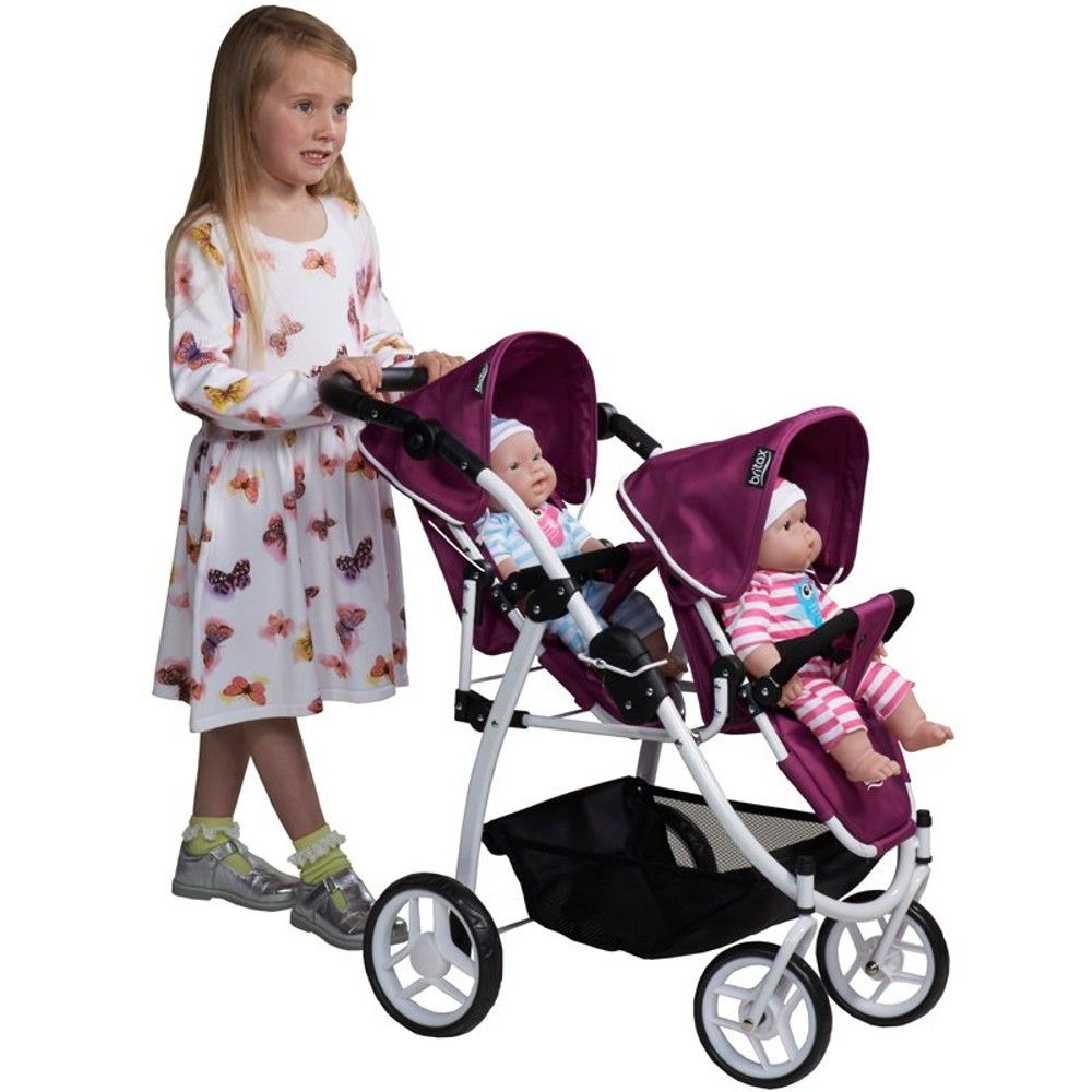 /Tandem Pushchair Twinny Twin Doll Pram for dolls up to Approx. 50/cm, Choice of Colours Bayer Chic 2000/