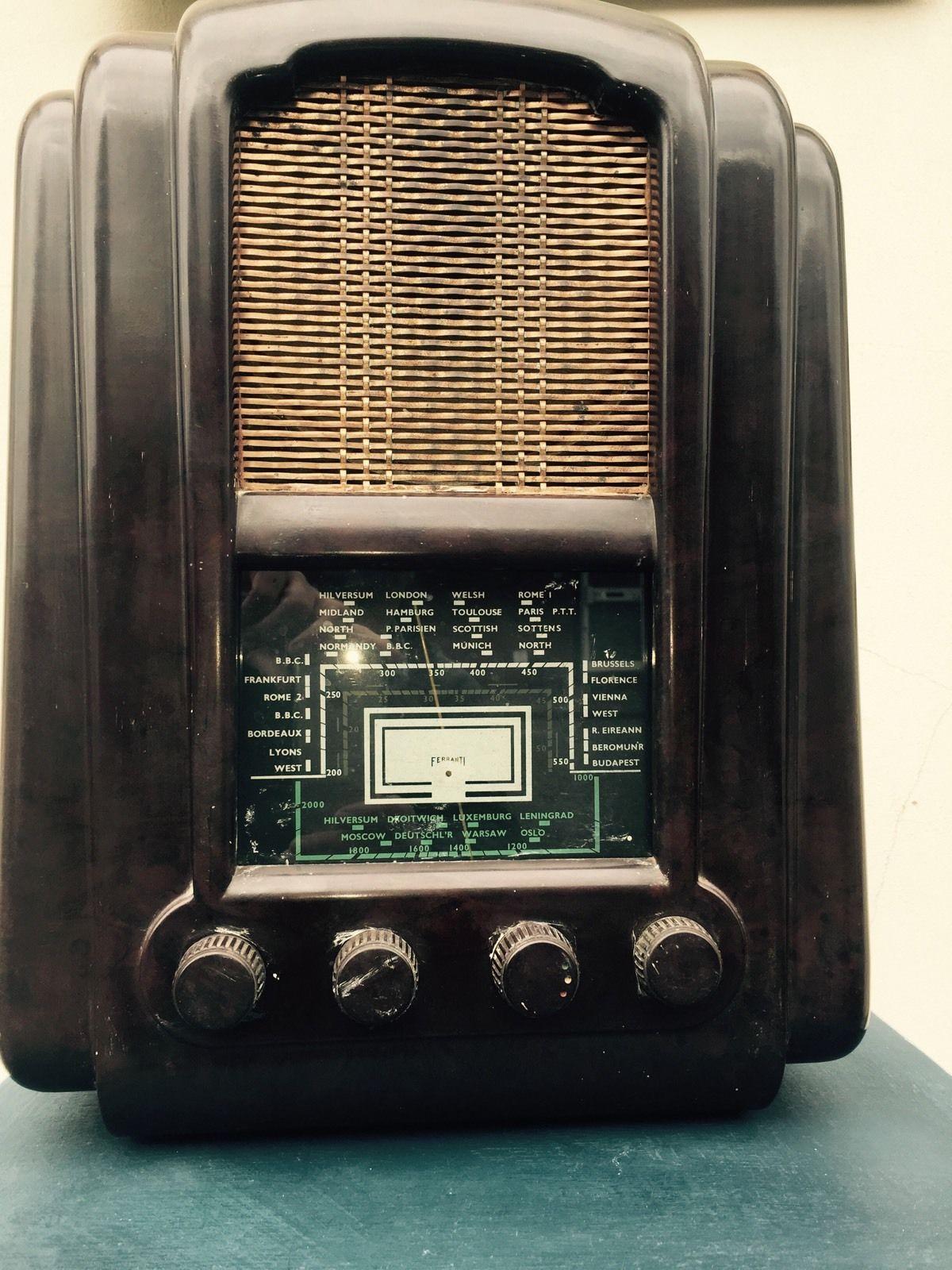 Vintage Retro Art Deco Bakelite Farranti Radio Antikvarnoe Radio Retro Radio Aerofotosemka