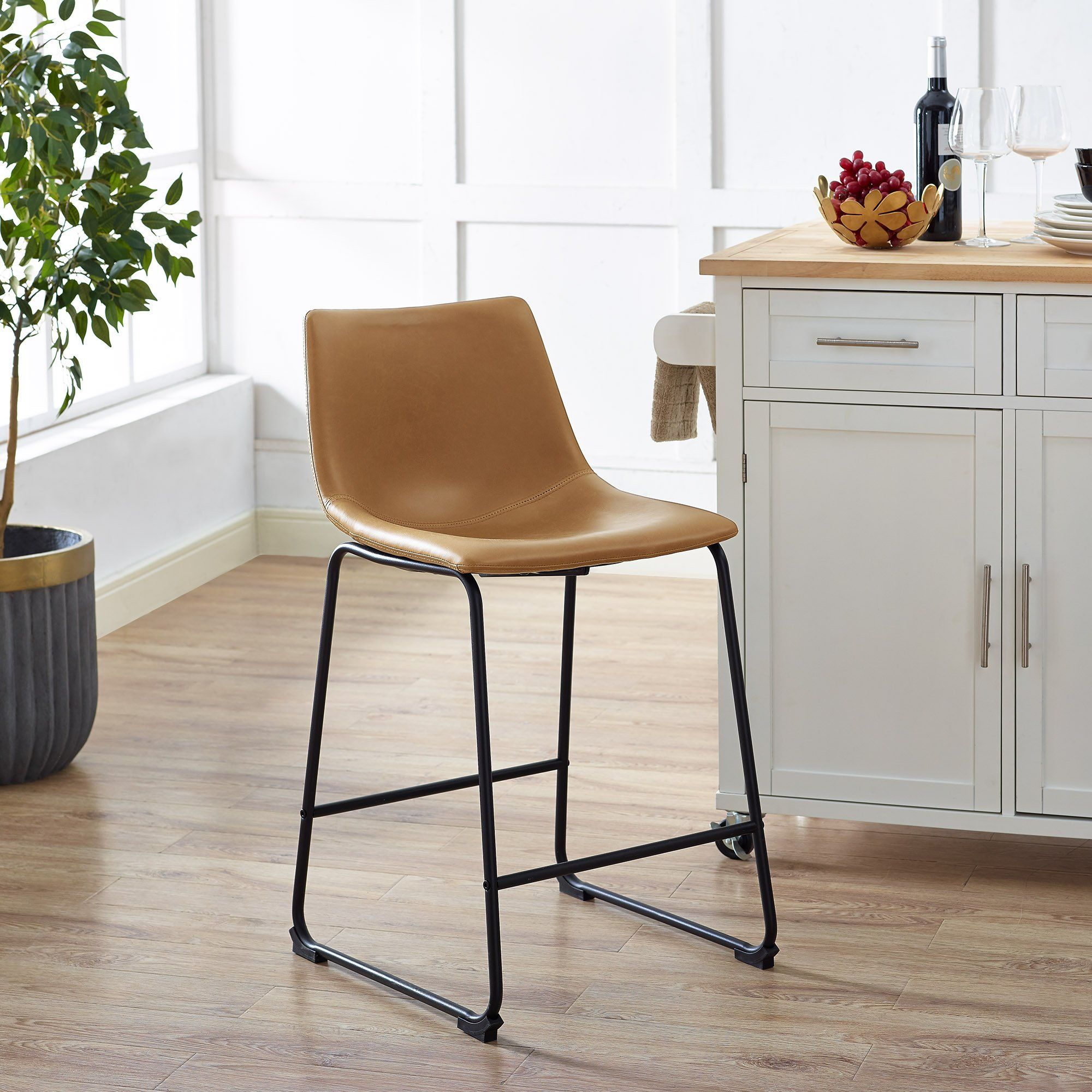 Industrial Brown 26 Inch Counter Height Stool Set Of 2 Counter