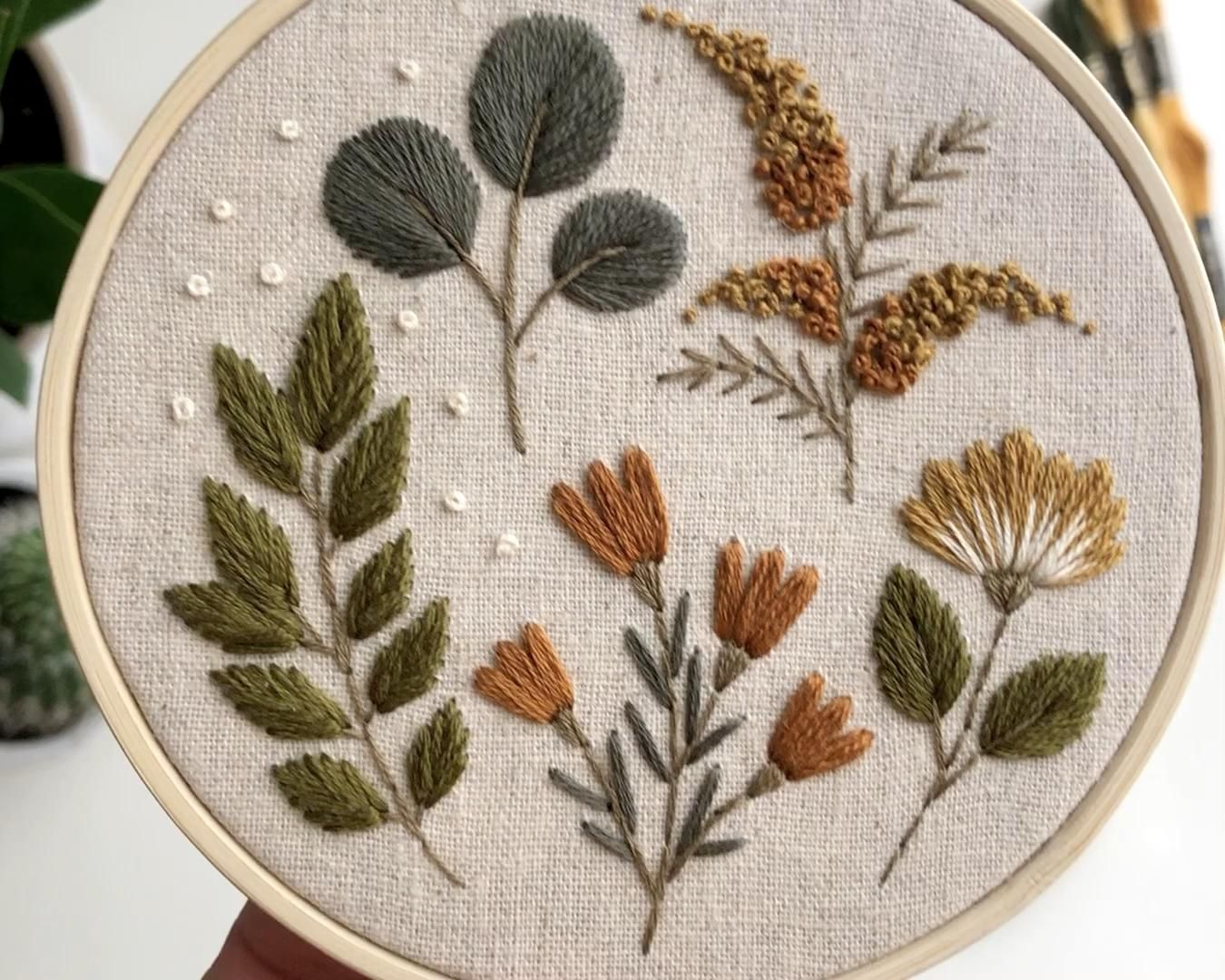 Botanical embroidery hoop – Decor
