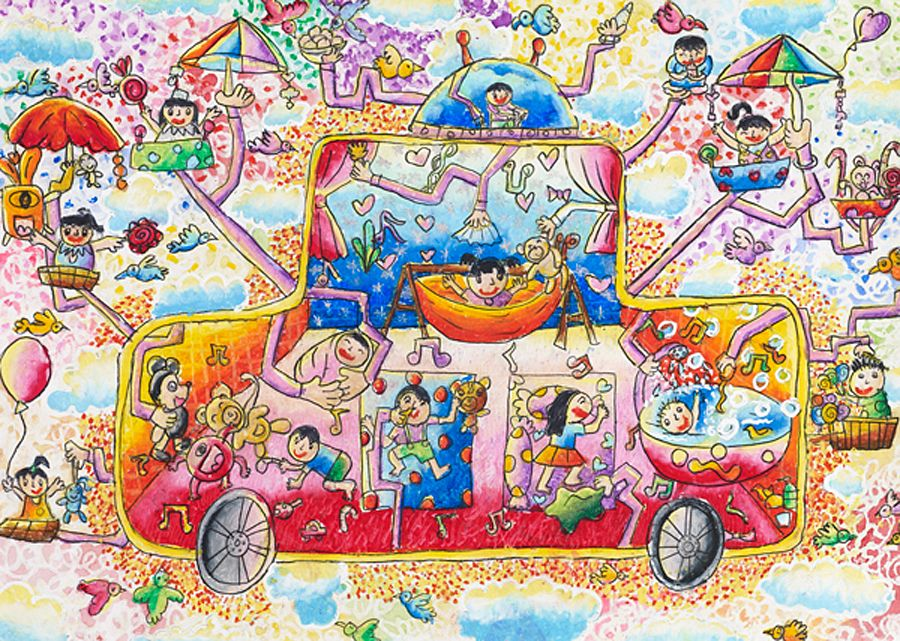 2012 Gold Winner Wiran Honthumma Thailand Age 9 Art Contest Drawing For Kids Art