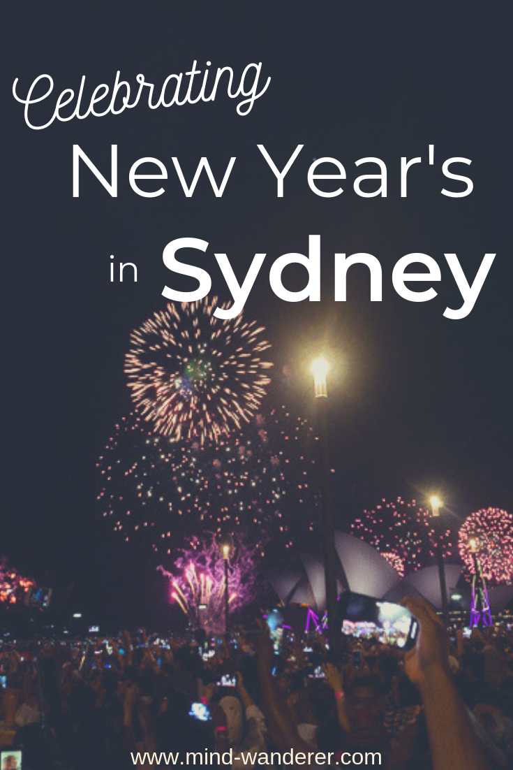 Celebrating New Year's in Sydney Watching the Fireworks