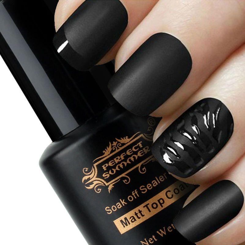 perfect summer matt top coat nail art uv gel polish matte. Black Bedroom Furniture Sets. Home Design Ideas