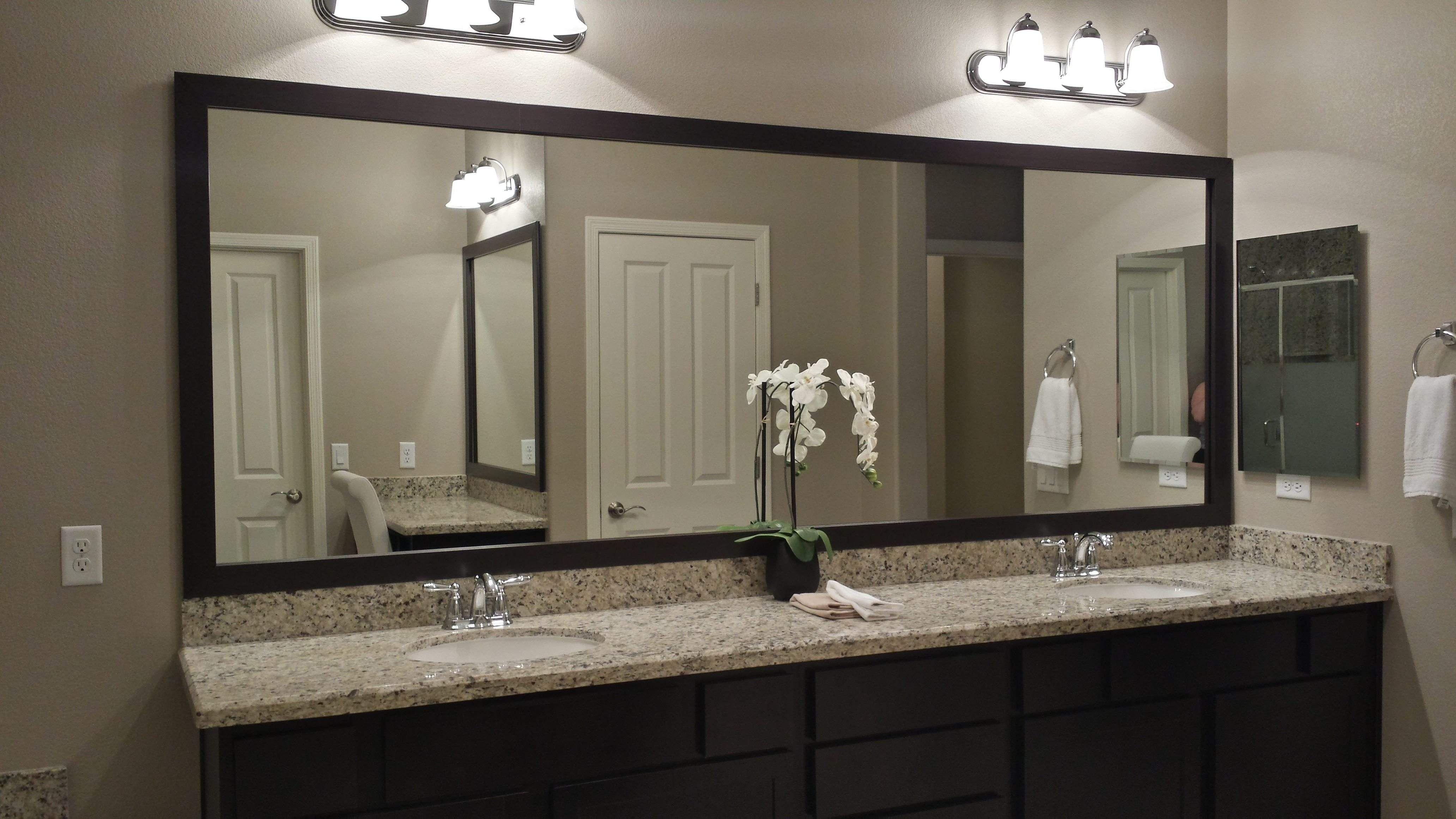 Bathroom Vanity Mirror Exclusive Before And After Customer Bathroom Bathroom Mirrors Diy Bathroom Mirror Bathroom Mirror Makeover