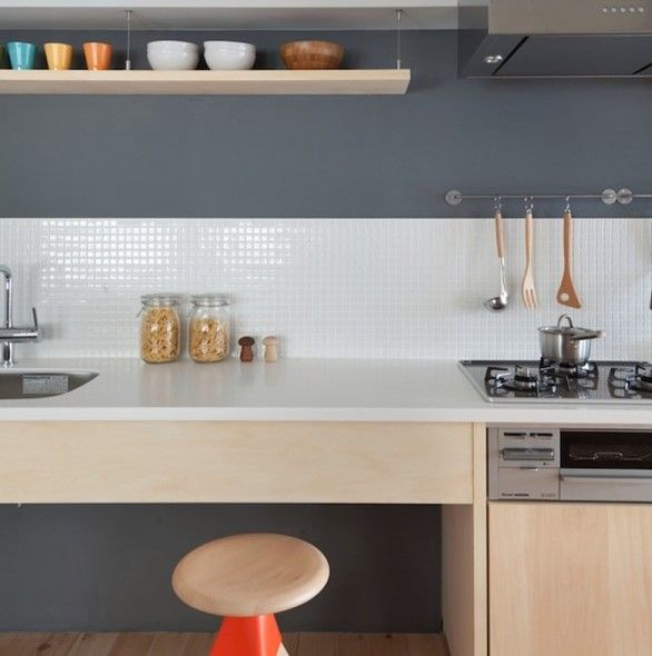 Gambar Model Rumah Apartemen Sederhana Ala Jepang 6 Dapur