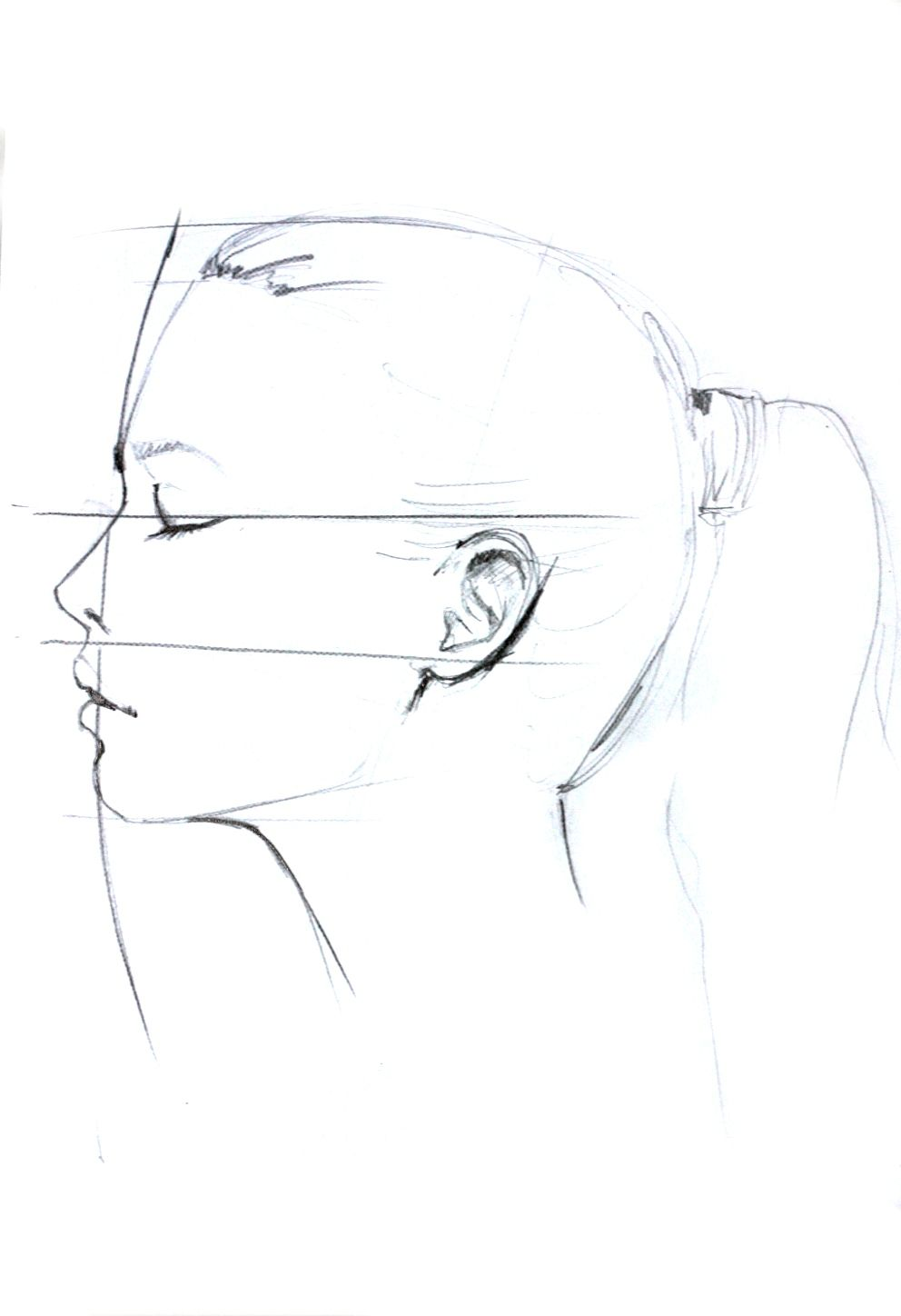 Line Drawing Of Face Profile : Profile drawing by elena ciuprina