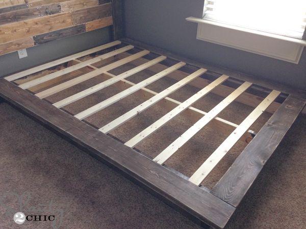 Easy DIY Platform Bed | Camas y Trabajos de casa
