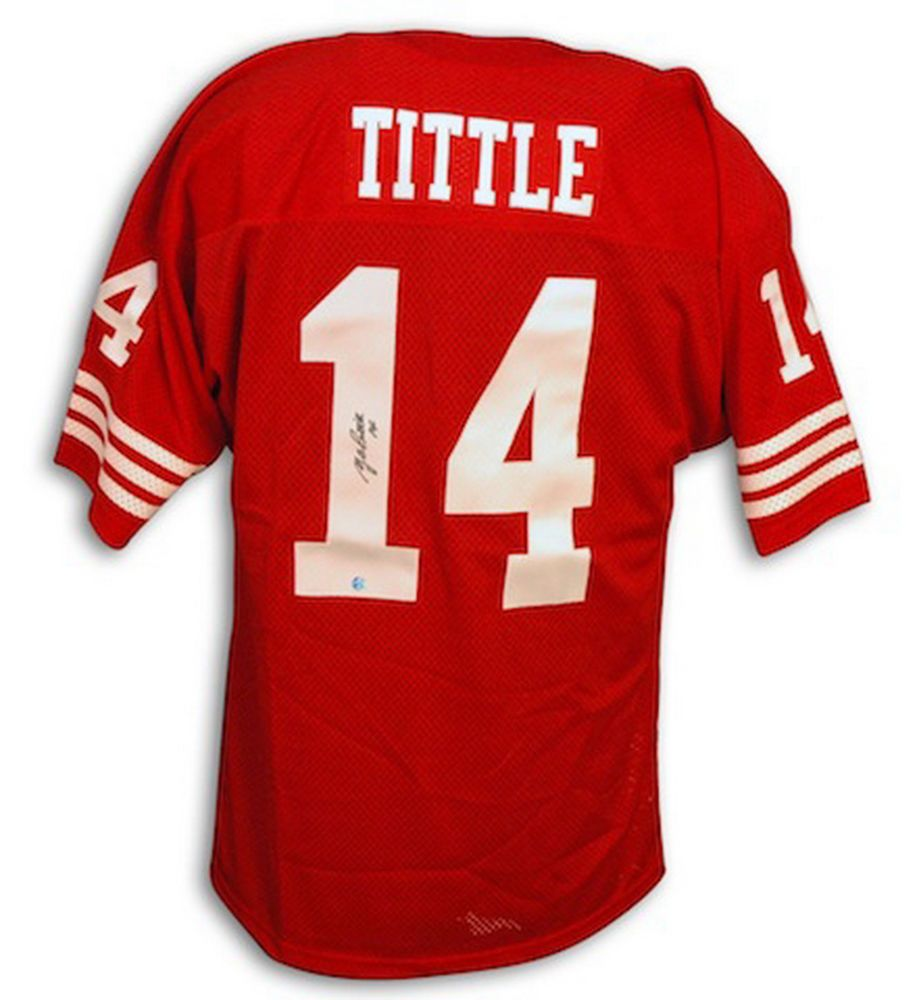 Autographed Football Jerseys Choose Player Y.A. Tittle Keena Turner (eBay  Link) f5c2a951b