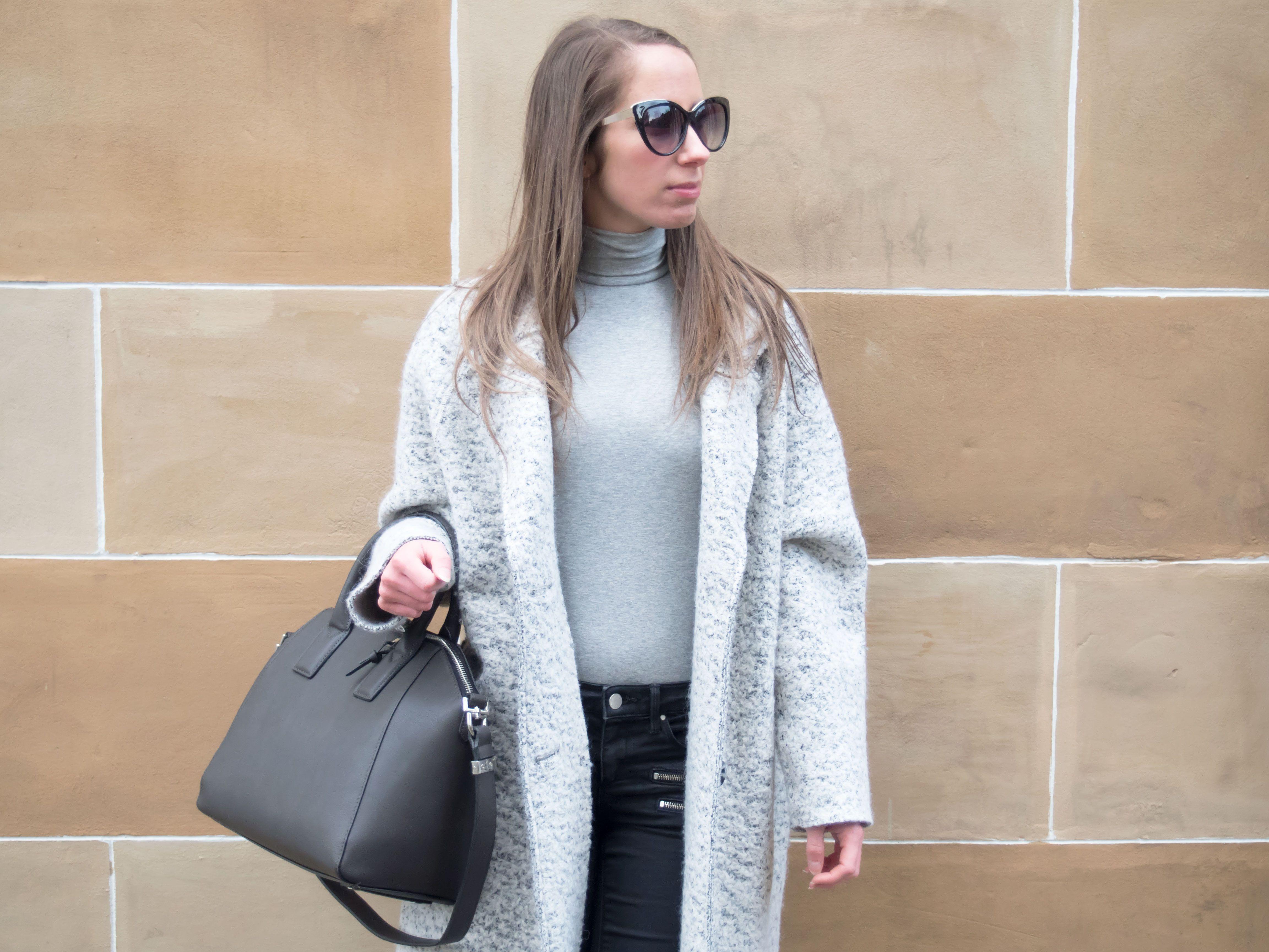 Petite Paulina - Zara Grey Oversized Coat | Petite Paulina ...