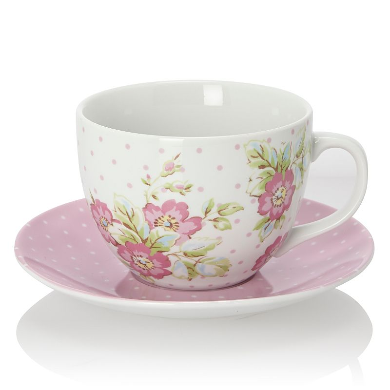 Katie Alice Candy Flower Breakfast Cup And Saucer Cups
