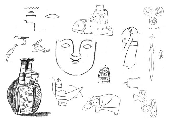 Museum Drawings - About Today - Illustration by Lizzy Stewart