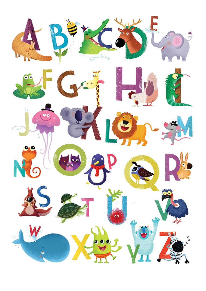 Alphabet Animal Alphabet Alphabet Poster Alphabet Design