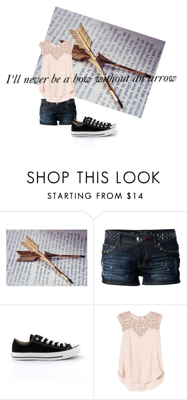 """""""Izzy"""" by lygia-soares ❤ liked on Polyvore featuring Philipp Plein, Converse, Rebecca Taylor, women's clothing, women, female, woman, misses and juniors"""