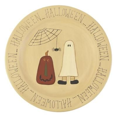 Image detail for -Primitive Wooden Halloween Pals Plate | Halloween Village  sc 1 st  Pinterest : primitive wooden plates - pezcame.com