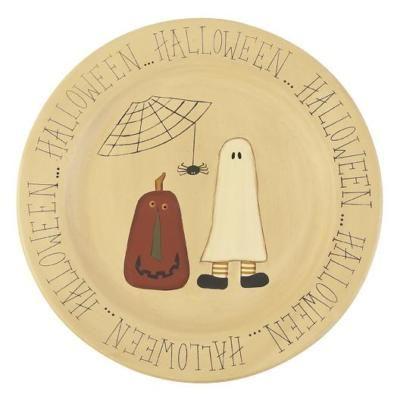 Image detail for -Primitive Wooden Halloween Pals Plate | Halloween Village  sc 1 st  Pinterest & Image detail for -Primitive Wooden Halloween Pals Plate | Halloween ...