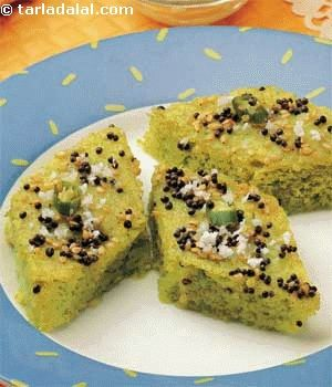 Green peas dhokla microwave dhokla recipe microwave recipes green peas dhokla microwave recipe recipe indian microwave snack recipes tarladalal forumfinder