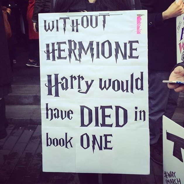 Because I Know I M Going To Have A Harry Potter Room In My House Whether He Likes It Or Now Womens March Signs Womens March Protest Posters