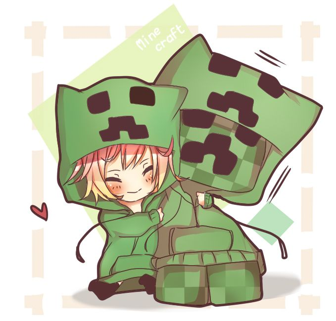 Minecraft creeper chibi - Creeper anime girl ...