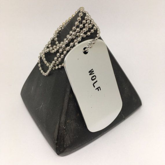 Hey, I found this really awesome Etsy listing at https://www.etsy.com/listing/514882963/wolf-dog-tag-ball-chain-the-wolf-alpha