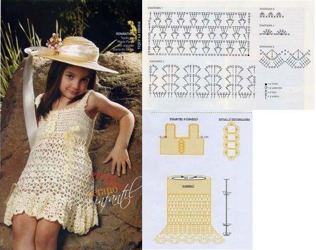 Vestido para niña a crochet | Nena, Crear y Vestiditos