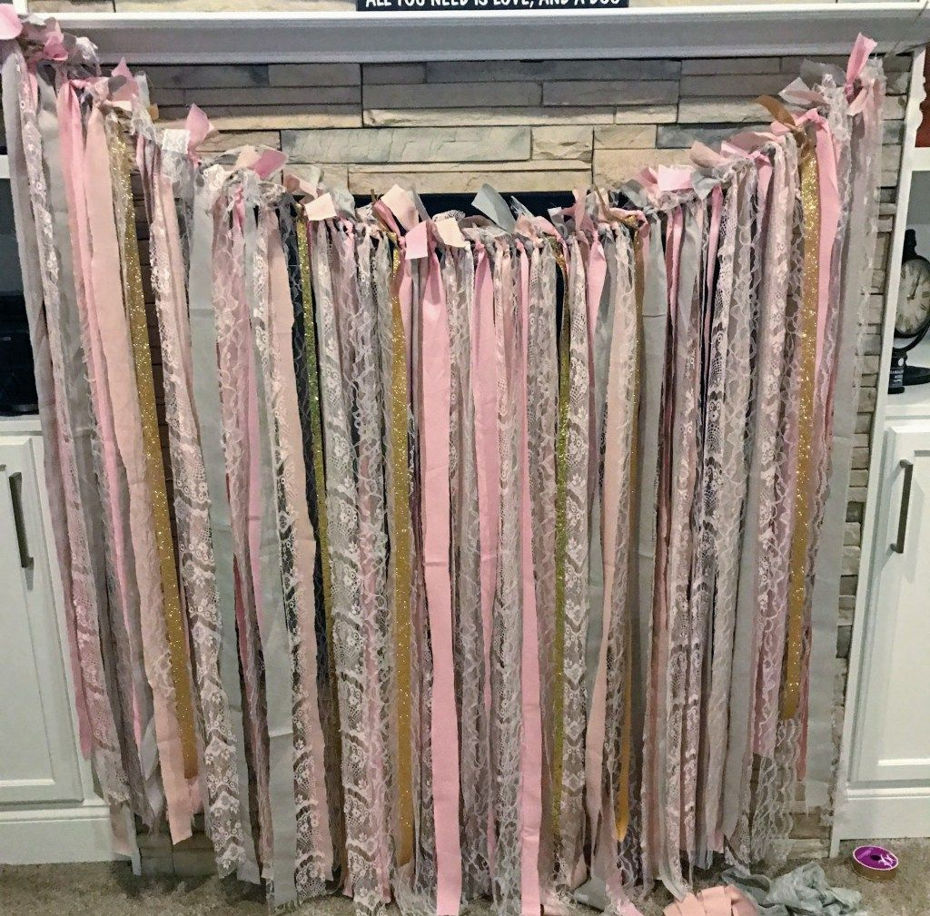 Ginger Ray Gold and Pastel Tassel Garland 6 1/2ft in 2020