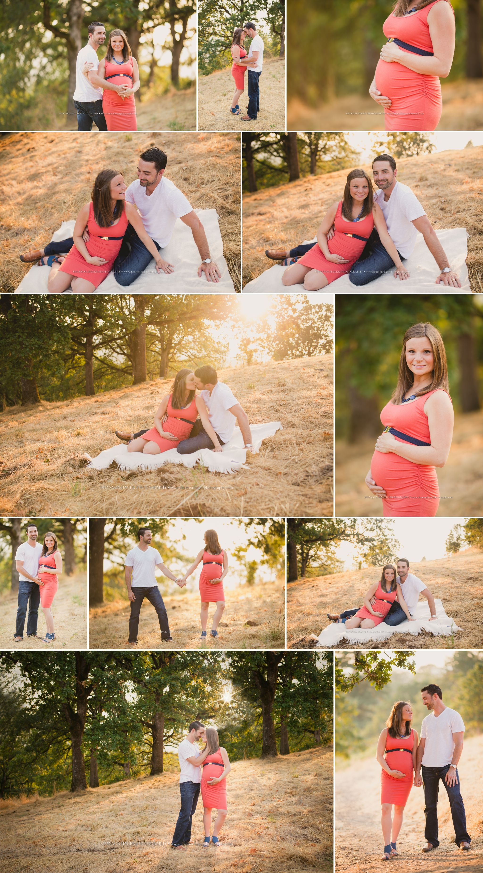 Sunset Summer Maternity Session Outdoors, Portland Maternity
